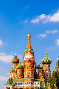 The Cathedral of Vasily the Blessed (St. Basil's Cathedral), Red Square, UNESCO World Heritage Site,の写真素材 [FYI03790963]