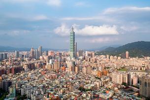 City skyline and Taipei 101 building, Taipei, Taiwan, Asiaの写真素材 [FYI03791071]