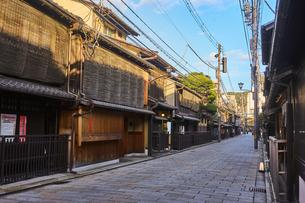 Shinbashi Dori street, Kyoto, Japan, Asiaの写真素材 [FYI03791106]