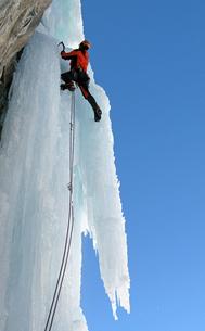 Ice climber, Chamonix, Haute Savoie, France, Europeの写真素材 [FYI03791201]