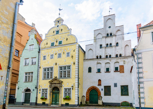 Three Brothers, Old Town, UNESCO World Heritage Site, Riga, Latvia, Europeの写真素材 [FYI03791484]