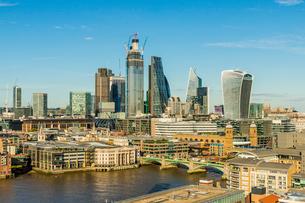 The City of London skyline, London, England, United Kingdom, Europeの写真素材 [FYI03791667]