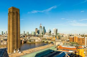 The London skyline, London, England, United Kingdom, Europeの写真素材 [FYI03791668]