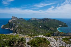 View over Cap Formentor, Mallorca, Balearic Islands, Spain, Mediterranean, Europeの写真素材 [FYI03791683]