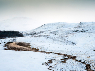 Hot water in a snowy cold region, the Golden Circle, Iceland, Polar Regionsの写真素材 [FYI03791710]