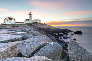Easter Harbor Lighthouse, Gloucester, Massachusetts, New England, United States of America, North Amの写真素材 [FYI03792085]