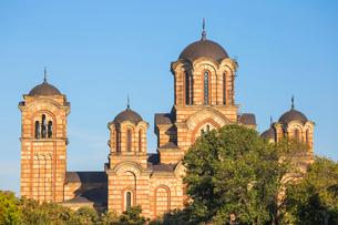 St. Mark's Church, Tasmajdan Park, Belgrade, Serbia, Europeの写真素材 [FYI03792221]