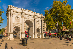 Marble Arch, London, England, United Kingdom, Europeの写真素材 [FYI03792341]