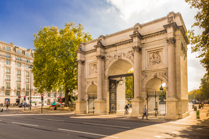 Marble Arch, London, England, United Kingdom, Europeの写真素材 [FYI03792356]