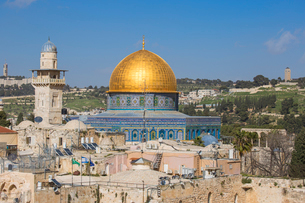 Dome of the Rock, Old City, UNESCO World Heritage Site, Jerusalem, Israel, Middle Eastの写真素材 [FYI03792400]