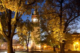 Stephen's Tower in Citadel Square, Baia Mare, Romania, Europeの写真素材 [FYI03792487]