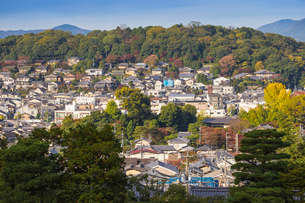 View from Ginkakuji Temple, UNESCO World Heritage Site, Kyoto, Japan, Asiaの写真素材 [FYI03792501]
