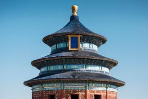 Hall of Prayer for Good Harvests, Temple of Heaven, UNESCO World Heritage Site, Beijing, China, Asiaの写真素材 [FYI03792539]
