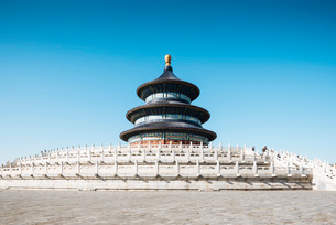 Hall of Prayer for Good Harvests, Temple of Heaven, UNESCO World Heritage Site, Beijing, China, Asiaの写真素材 [FYI03792543]