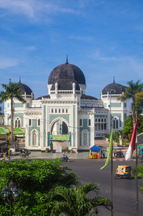 Great Mosque, Medan, Sumatra, Indonesia, Southeast Asia, Asiaの写真素材 [FYI03792615]