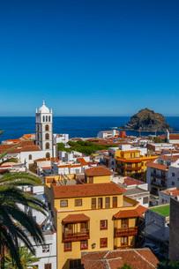 Garachico, Puerto de la Cruz, Tenerife, Canary Islands, Spain, Atlantic Ocean, Europeの写真素材 [FYI03793122]