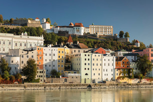 Old town of Passau, Germany, Europeの写真素材 [FYI03793257]