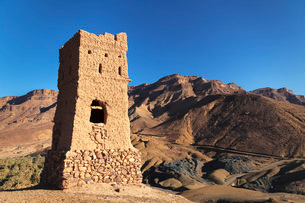 Draa Valley near Agdz, Atlas Mountains, Morocco, North Africa, Africaの写真素材 [FYI03793320]