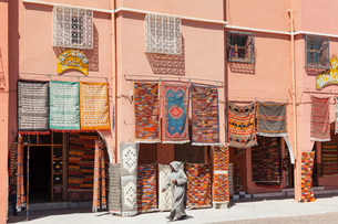 Carpet Shop, Tazenakht, Southern Morocco, Morocco, North Africa, Africaの写真素材 [FYI03793342]