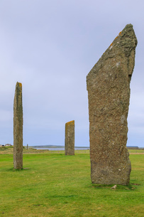 Standing Stones of Stenness in Orkney Islands, Scotland, Europeの写真素材 [FYI03793458]