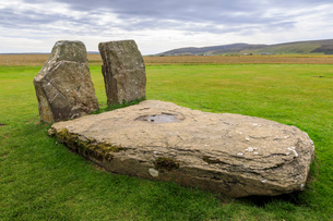 Standing Stones of Stenness in Orkney Islands, Scotland, Europeの写真素材 [FYI03793460]