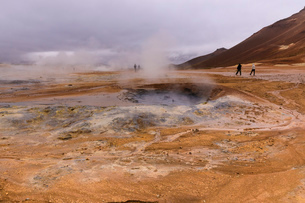 Namafjall Geothermal Area in Iceland, Europeの写真素材 [FYI03793509]
