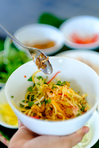 Spicy salad, Vietnamese food, Vietnam, Indochina, Southeast Asia, Asiaの写真素材 [FYI03793561]