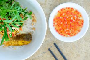 Salad and hot sauce, Vietnamese food, Vietnam, Indochina, Southeast Asia, Asiaの写真素材 [FYI03793562]
