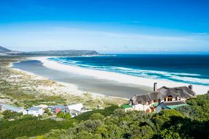 View over Noordhoek Beach, Chapmans Peak, Cape of Good Hope, South Africa, Africaの写真素材 [FYI03793801]