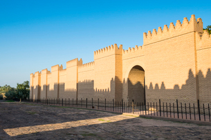 Reconstructed ruins of Babylon, Iraq, Middle Eastの写真素材 [FYI03793849]