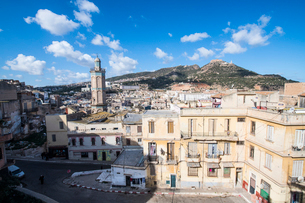 View on the old Kasbah from the Bey's Palace, Oran, Algeria, North Africa, Africaの写真素材 [FYI03793953]