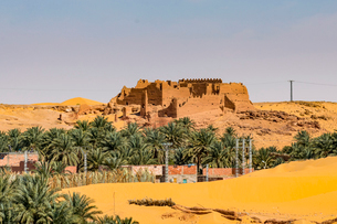 Old ksar, old town in the desert, near Timimoun, western Algeria, North Africa, Africaの写真素材 [FYI03793999]