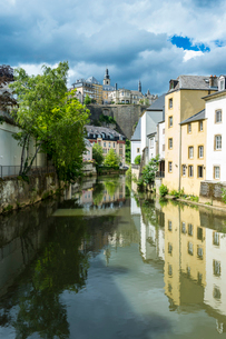 The old quarter of Luxembourg, UNESCO World Heritage Site, Luxembourg, Europeの写真素材 [FYI03794035]