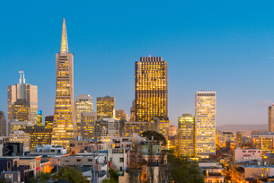 TransAmerica Pyramid, San Francisco, California, United States of America, North Americaの写真素材 [FYI03794093]