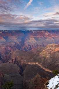 Sunset over Grand Canyon South Rim, UNESCO World Heritage Site, Arizona, United States of America, Nの写真素材 [FYI03794314]