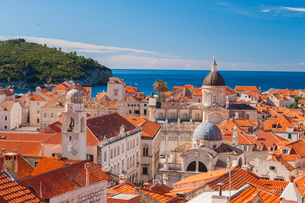 Old town rooftops, UNESCO World Heritage Site, Dubrovnik, Croatia, Europeの写真素材 [FYI03794806]