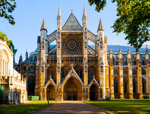 Westminster Abbey in London, England, Europeの写真素材 [FYI03795199]