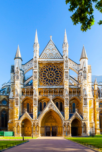 Westminster Abbey in London, England, Europeの写真素材 [FYI03795207]