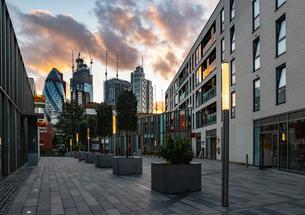 City of London, sunset, London, England, United Kingdom, Europeの写真素材 [FYI03795350]