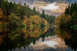 Autumn in Glencoe, Highlands, Scotland, United Kingdom, Europeの写真素材 [FYI03795369]