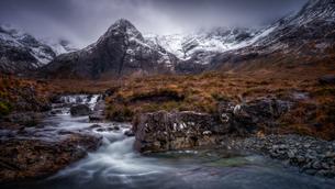 Fairy Pools, Isle of Skye, Inner Hebrides, Scotland, United Kingdom, Europeの写真素材 [FYI03795384]