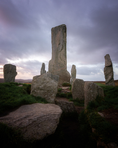 Callanish Standing Stones, Isle of Lewis, Outer Hebrides, Scotland, United Kingdom, Europeの写真素材 [FYI03795456]