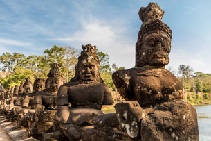 Angkor Wat temples, Angkor, UNESCO World Heritage Site, Siem Reap, Cambodia, Indochina, Southeast Asの写真素材 [FYI03795620]