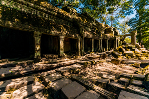 Angkor Wat temples, Angkor, UNESCO World Heritage Site, Siem Reap, Cambodia, Indochina, Southeast Asの写真素材 [FYI03795634]