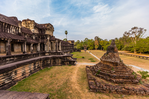 Angkor Wat temples, Angkor, UNESCO World Heritage Site, Siem Reap, Cambodia, Indochina, Southeast Asの写真素材 [FYI03795639]