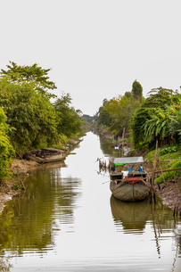 Village life on the Mekong Delta, Vietnam, Indochina, Southeast Asia, Asiaの写真素材 [FYI03795662]