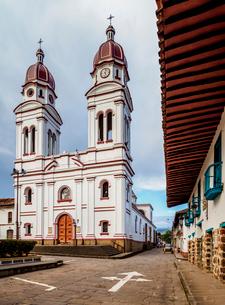 Nuestra Senora de Mongui Church, Charala, Santander Department, Colombia, South Americaの写真素材 [FYI03796131]