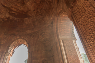Qutub Minar, UNESCO World Heritage Site, New Delhi, India, Asiaの写真素材 [FYI03796395]