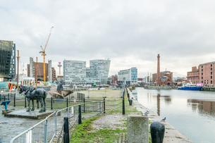 Royal Albert Dock in Liverpool, England, Europeの写真素材 [FYI03796451]