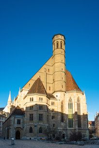 Minoritenkirche (Minorities Church) dating from circa 1350 at Minoritenplatz, Vienna, Austria, Europの写真素材 [FYI03796678]